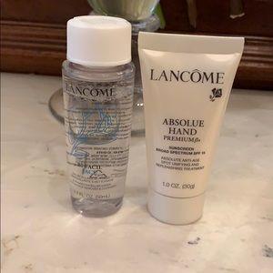 Lancôme Eye Makeup Remover and  Lotion